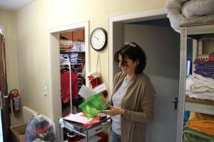 In der kleinen, grünen Box werden die freiwilligen Spenden gesammelt.